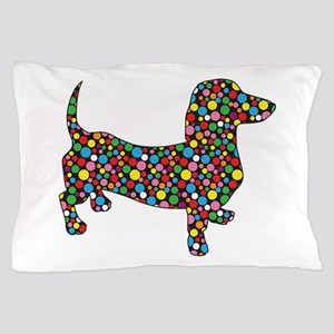Dachshund Polka Dots Pillow Case
